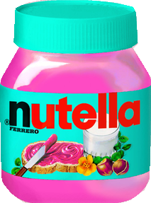 pink green nutella food freetoedit
