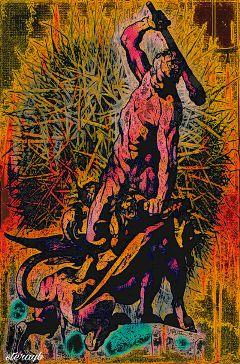 psychedelic color retro vintage popart