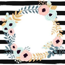 freetoedit background wreath flowers katespade