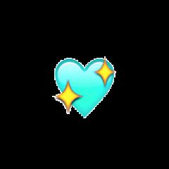 сердечко heart blue голубой блеск