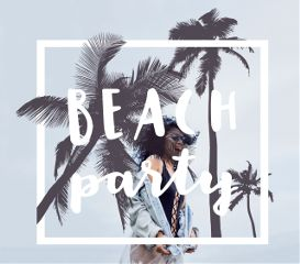 summer beach party minimalism girl