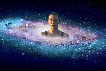 swimming galaxy cosmic girl