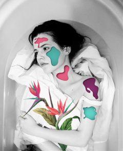 bw skinout collage design art