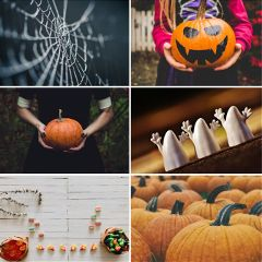 Celebrate,Halloween,by,creating,a,collage,of,your,favorite,Halloween,items!