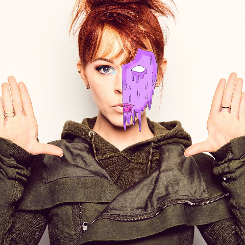 Lindsey image with grime art