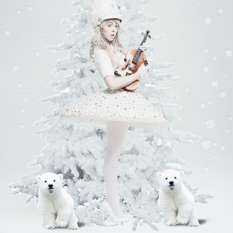 Lindsey white photo edit with bears